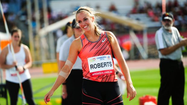 Canberra javelin thrower Kelsey-Lee Roberts finishes 10th at world championships