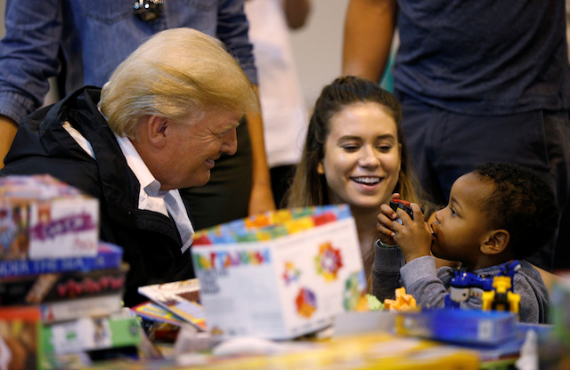 PHOTOS: Trump And Melania Meet With The Kids Who Survived Hurricane Harvey